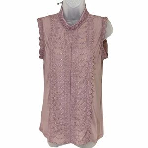APT. 9 Sleeveless sheer top with cami Small